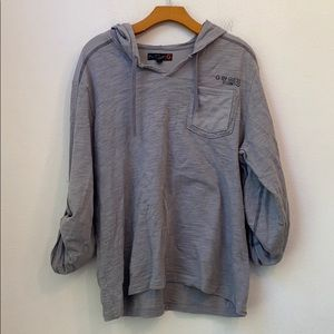 MENS G BY GUESS SOLID GRAY HOODIE